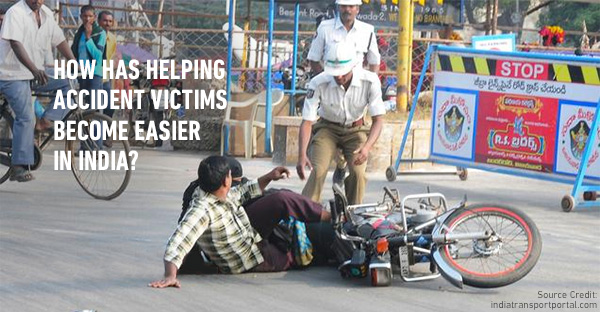 Helping road accident victims without any consequences